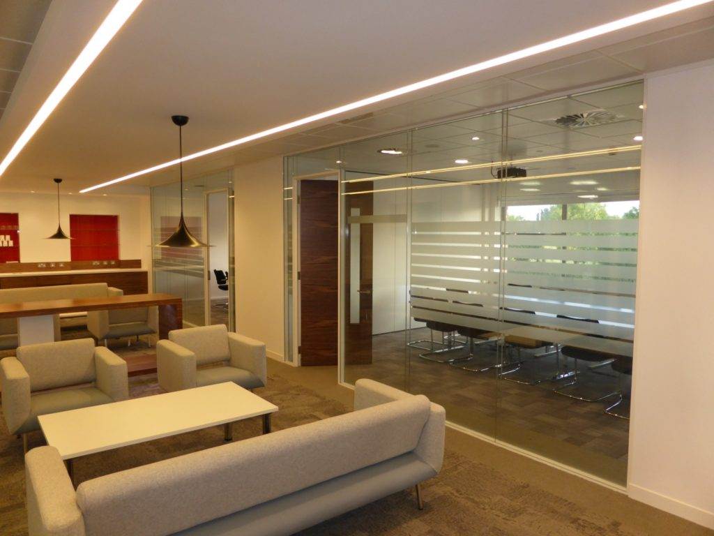 Glass Office Wall - ADT Global Chester