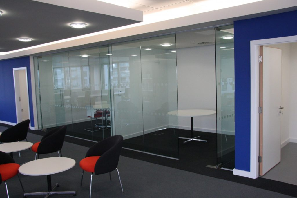 Glass office Partitions and doors