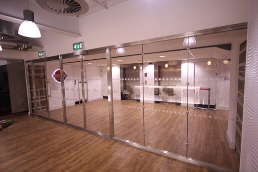 Glass fire screens and fire rated doors