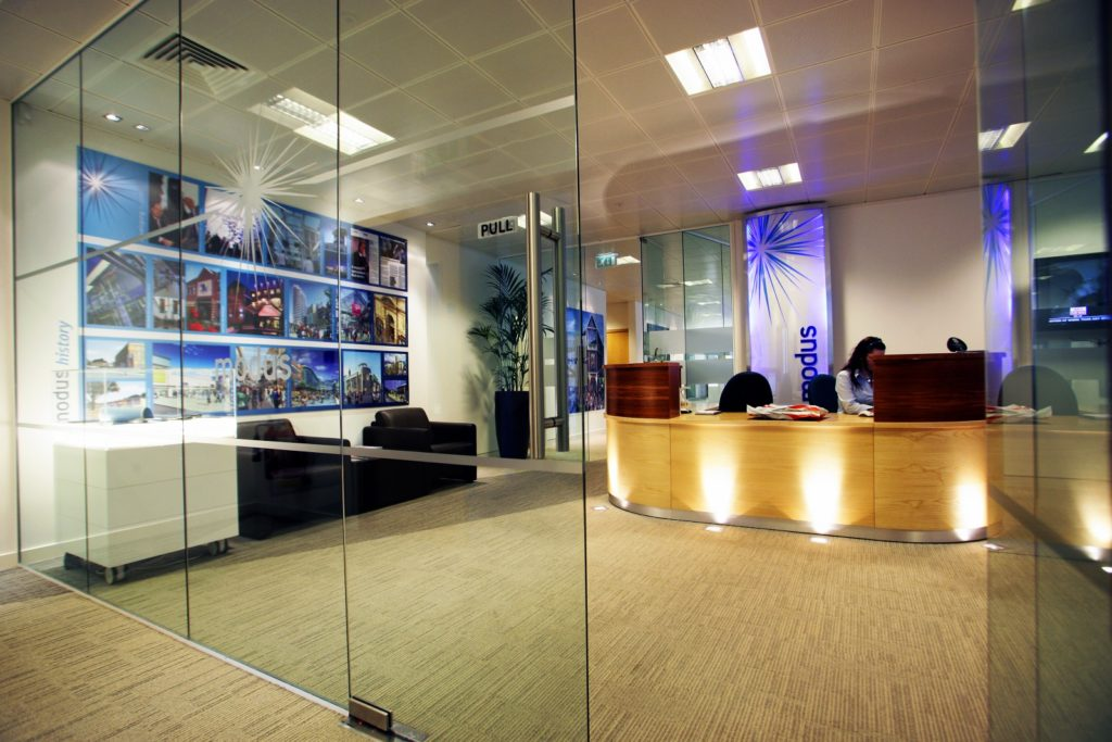 Glass office door