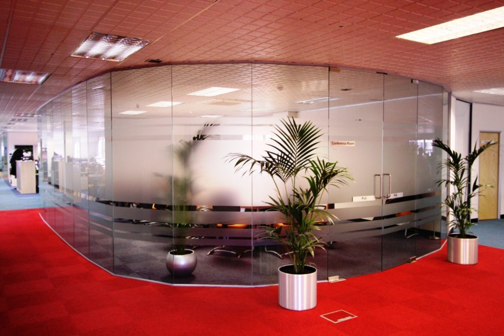 frosted Glass office partitions