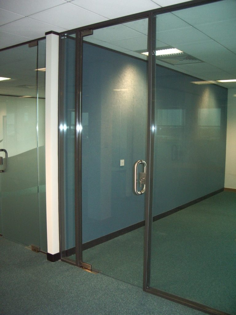 Glass door