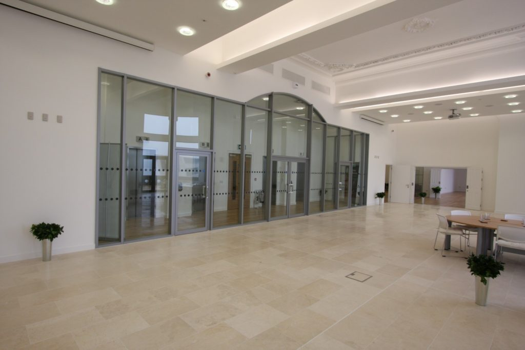 Glass fire screens and doors