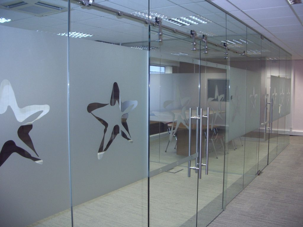 Printed Glass office partitions